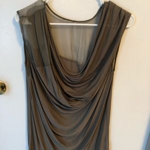 Anthropologie gathered front mesh top tank
